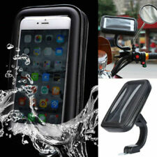 Flexible Arm Motorcycle Motorbike Rear Mirror Waterproof Phone Holder Mount Case