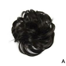 Easy to Wear Real Thick Messy Curly Bun Hair Piece Extensions Hair Scrunchi I3B4