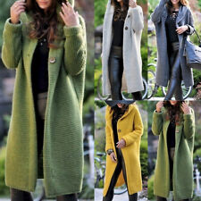 Plus Size Long Sleeve Knitted Cardigan Sweater Casual Outwear Coat Jacket SUM