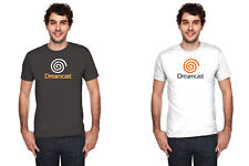 DREAMCAST GAMING LOGO SEGA men black t-shirt 100% cotton short sleeve