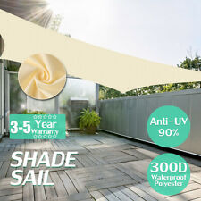 280GSM/300D Triangle Sun Shade Sail Garden Patio Awning Canopy Sunscreen Sail