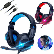 Gaming Headset Stereo Surround Headphones LED USB W/ Mic For Xbox One/PS4 PC US*