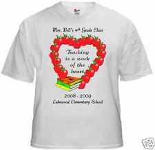 Personalized Apple Heart Teacher Shirt - great gift!