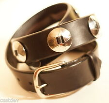 NEW WESTERN BLACK or BROWN LEATHER STAR CONCHO Belt 630