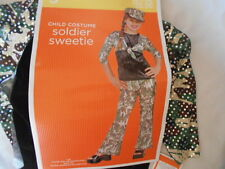 NWT~SOLDIER SWEETIE~HALLOWEEN COSTUME~Girls Sm~Med~Lg