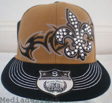 NEW BROWN KING BLING HIP HOP FITTED BASEBALL HAT CAPS