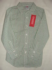 Gymboree MERRY & BRIGHT Green White Checkered Top Blouse Shirt NWT 4 5 6 FALL