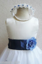 FLOWER GIRL DRESS WEDDING  IVORY PAGEANT PARTY RECITAL