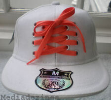 NEW ORANGE LACE FITTED HIP HOP WHITE BASEBALL HATS CAPS