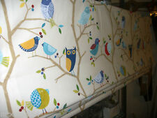 HARLEQUIN - WHAT A HOOT FABRIC -ROMAN BLINDS- BLACKOUT-MADE TO MEASURE-MTM-KIDS