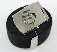 """Old English Canvas Web """"S"""" Belt Buckle 60 inch"""