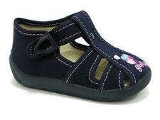 TODDLER GIRL NAVY BLUE CANVAS SANDALS SIZE 6 AND 7 F/G