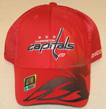 NHL Washington Capitals Red Fitted Mesh Back Hat By Reebok