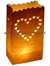 50 Pack Hearts Paper Candle Bag Lantern Wedding Party