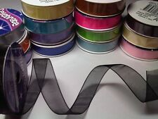 Organza Assorted Colour 12mm x 6m Craft Ribbon Reel New