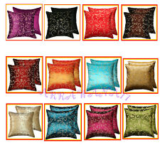2 Thai Silk Decorative Pillow Cover Cushion Cases FS