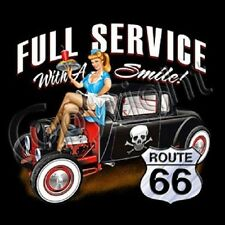 FULL SERVICE DRIVE IN RAT ROD HOT ROD T SHIRT ROUTE 66