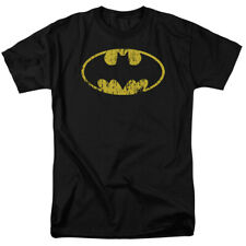 Batman Classic Distressed Logo Symbol Licensed DC Comics Adult Shirt S-3XL