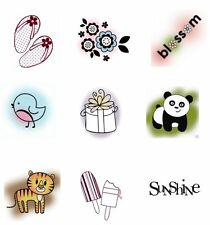 NEW 20 Imaginisce Snag 'Em Acrylic STAMP Choice of Clear STAMPS Flowers Animals