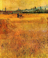 """Vincent Van Gogh- Arles View from the Wheat Fields- 20""""x26""""   on Canvas"""
