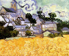 "Vincent Van Gogh- View of Auvers with Church  20""x26""   on Canvas"