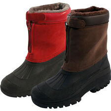 MENS /LADIES SNOW BOOTS WATERPROOF THERMAL WELLINGTONS MUCK WINTER FUR SKI BOOTS