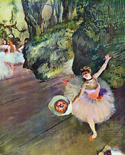 "Dancer with a bouquet of flowers by Edgar Degas -  20""x26""  on Canvas"