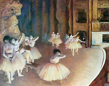 """Dress rehearsal of the ballet on the stage by Edgar Degas -  20""""x26""""  on Canvas"""