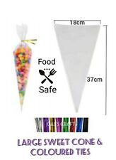 Cone Cello Clear Bags for Sweet, treat, Gift, Candy Party Favor
