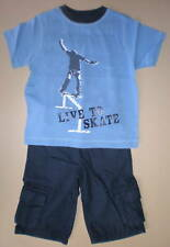 Boys GYMBOREE 2pc Sk8 Set Tshirt Shorts Size 3 4 5 NWT Great Value