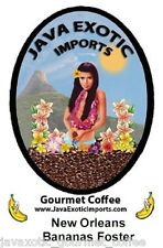 NEW ORLEANS BANANAS FOSTER COFFEE FRESH ROASTED FLAVORED GOURMET WHOLE BEAN JAVA