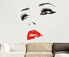 CHERYL COLE FACE WALL ART STICKER CHOOSE DIFFERENT COLOUR EYES & LIPS ROOM CG126