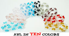 """MULTI COLOR Crystal Faceted Round Beads Stretch Bracelet - 7"""" BirthStone DIY"""