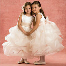 NWT Pageant White Pink Flower Girl Wedding Dress
