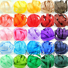 28MM x 5 METRES DOUBLE SIDED HIGH QUALITY SATIN RIBBON, ASSORTED COLOURS