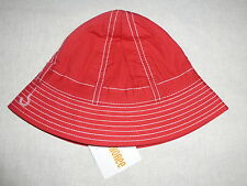 Gymboree BURST OF SPRING Red White Pick Stitch Cloche Hat NWT Venice Sweetie