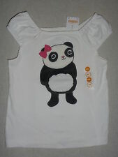 Gymboree PANDA ACADEMY Ivory Pink Bear Bow Short Sleeve Shirt Top Tee NWT 4