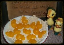 NELLIES ACRES SPRING CHICKS...SCENTED IN CLEAN COTTON..TARTS.. WAX  EMBEDS..