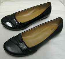 *SALE* Ladies Clarks Discovery Bay Black Leather & Patent  Leather Slip Ons