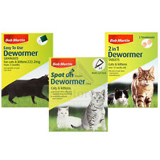 Bob Martin Cat Kitten Dewormer Spot On Worming Treatment Granules Tablets Tubes