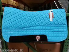 PRI PREMIUM DOUBLE BACK FLEECE WESTERN SADDLE PAD WITH EQUU-FELT(SEVERAL COLORS)