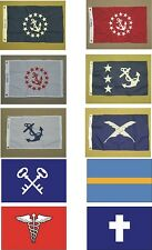 """Yacht Club Officers Flags All Designs Indoor Outdoor Nylon Flag Grommets 12""""X18"""""""