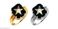 New Ladies 10k or 14k White or Yellow Gold Masonic Freemason Eastern Star Ring