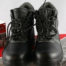 New Men's PU leather Uppers Safety Toe Work Shoes - Black - Fast Shipping