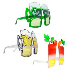 Party Fun Novelty Sunglasses Fiesta Beer Drinks Funny Crazy Costume Gag Gift