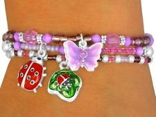 Butterfly Ladybug BRACELET Frog Turtle Insect Kids Children Easter Toy Jewelry