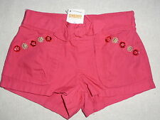 Gymboree BATIK SUMMER Pink Gem Button Pocket Bow Shorts NWT 2T Girls Summer