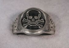 Skull and Bones Ring Pewter DeathHead skull ring all sizes 7 to 14 availible