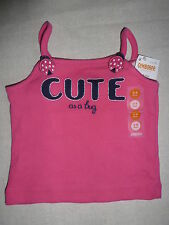 Gymboree CAPE COD CUTIE Pink CUTE as a bug Ladybug Tank Top Shirt NWT