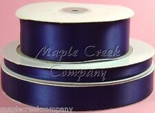 Double Face NAVY BLUE 100% Polyester Satin Ribbon Assorted Sizes